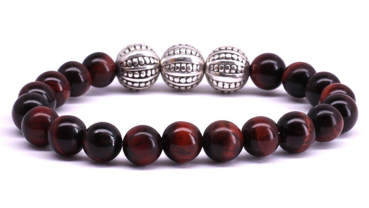 FortunaBeads Gili Basic Red Tiger Eye bracelet Back image