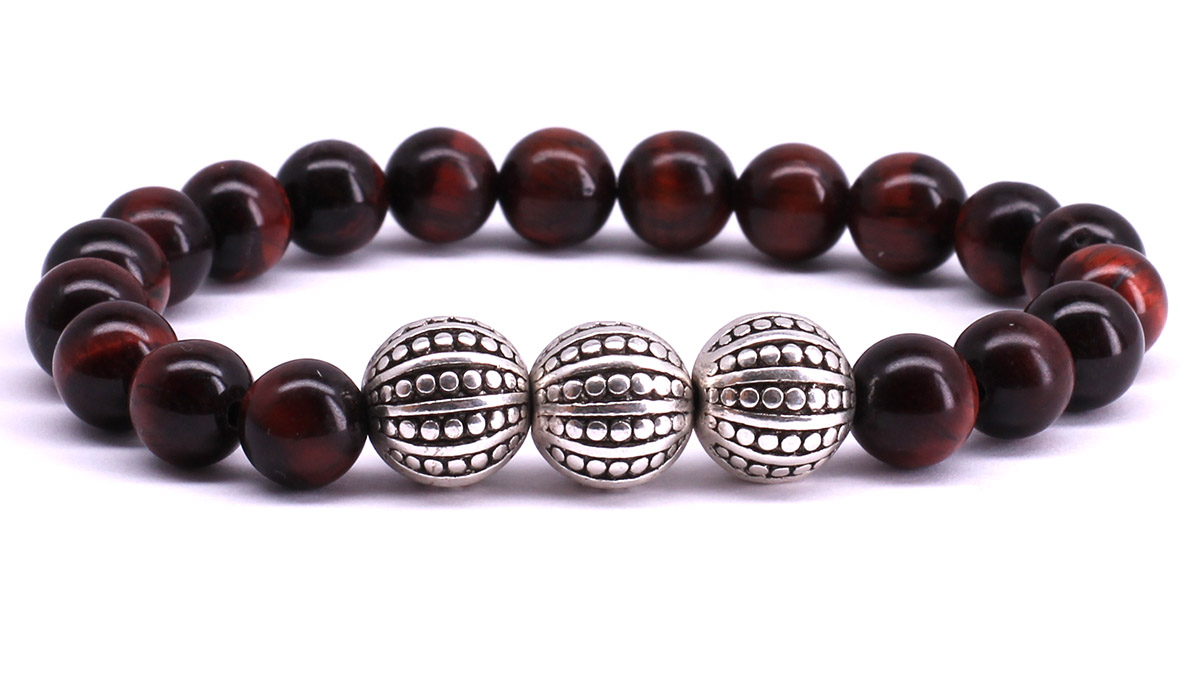 FortunaBeads Gili Basic Red Tiger Eye bracelet Front image