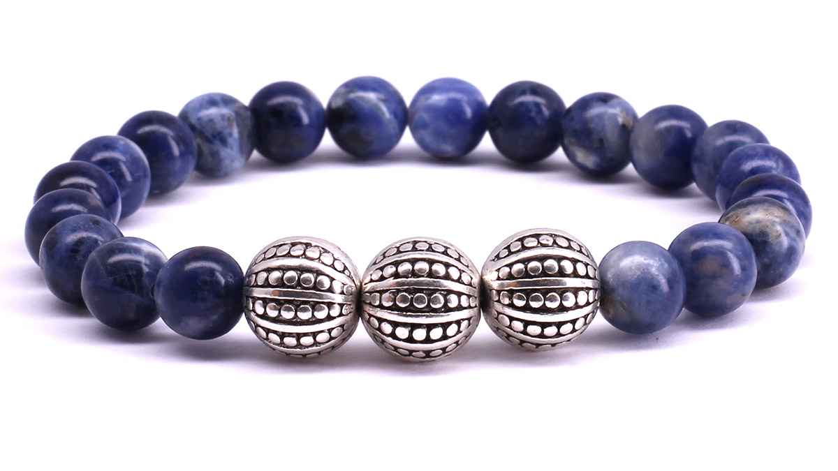 FortunaBeads Gili Blue Sodalite bracelet Front image