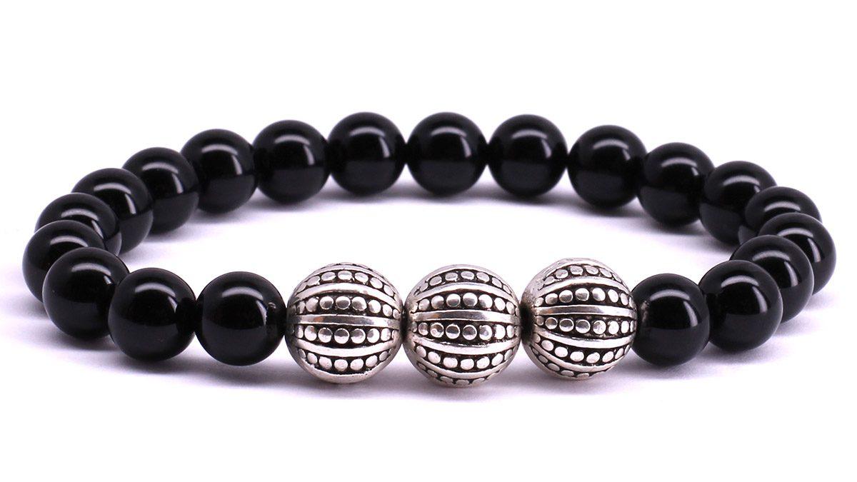 FortunaBeads Gili Black Onyx Polished bracelet Front image