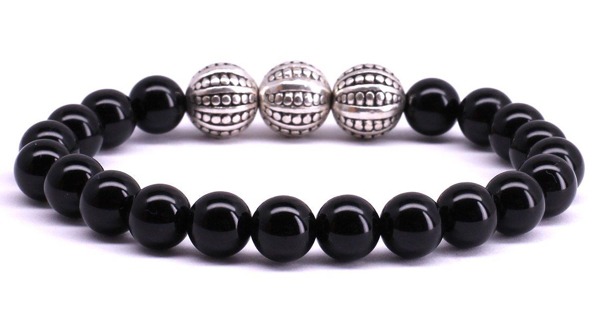 FortunaBeads Gili Basic Black Onyx Polished bracelet Back image
