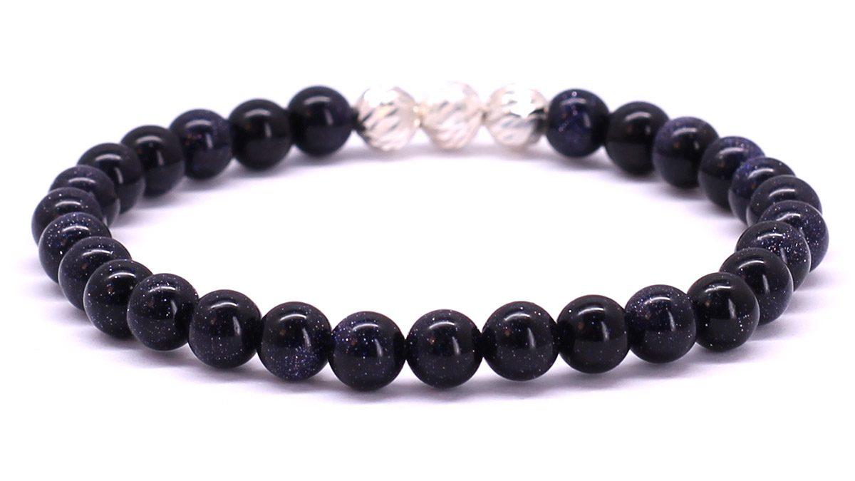 Premium for her bracelet Blue Goldstone Back