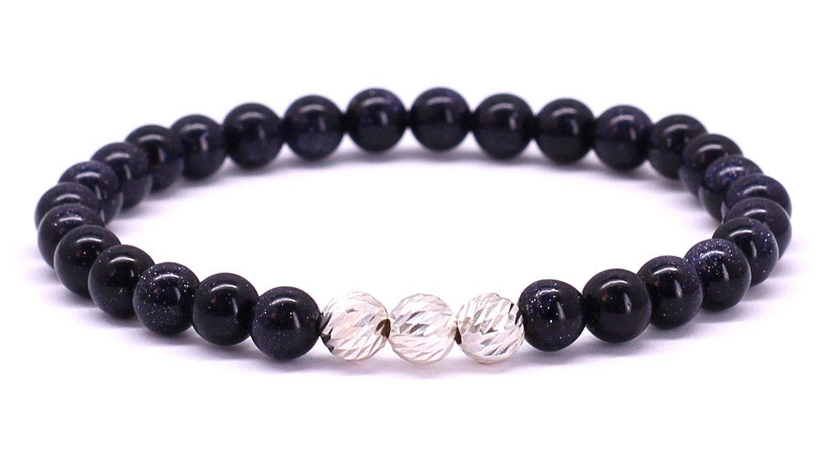Premium for her bracelet Blue Goldstone Front