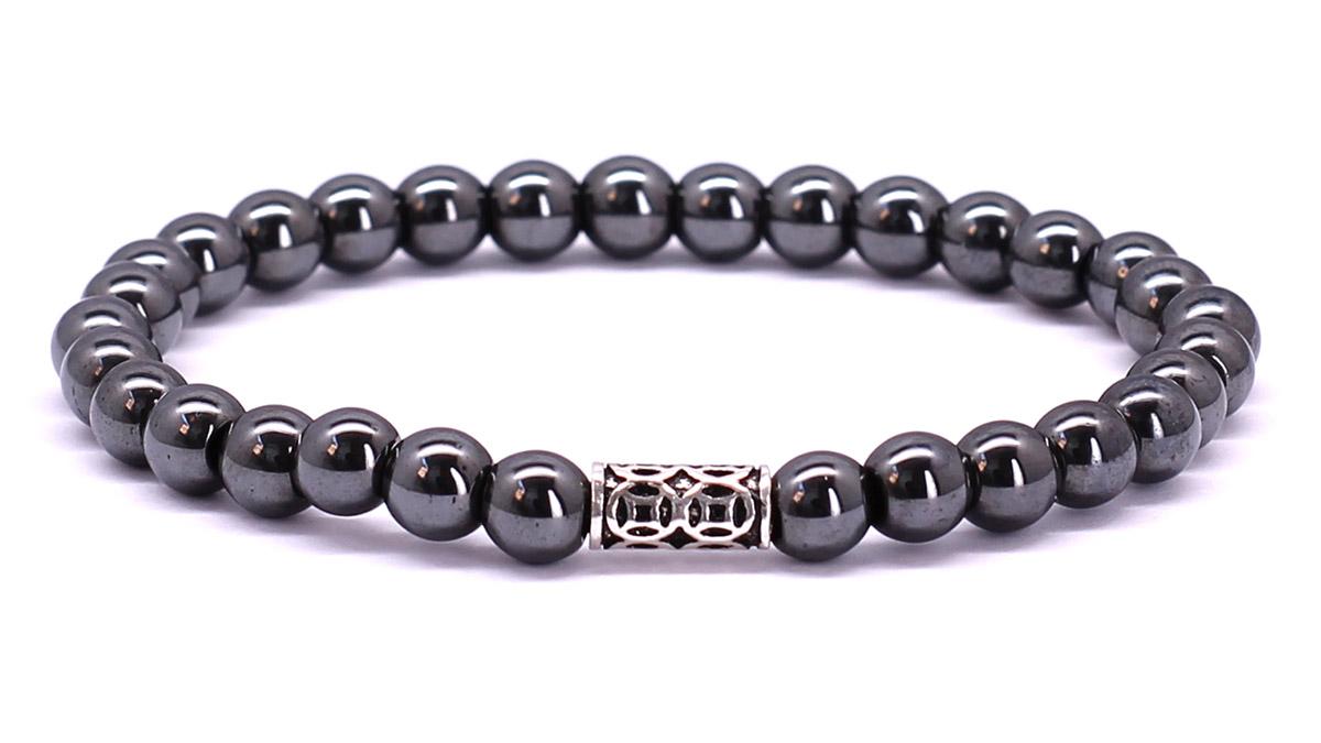 Premium for her bracelet Gunmetal Hematite Front