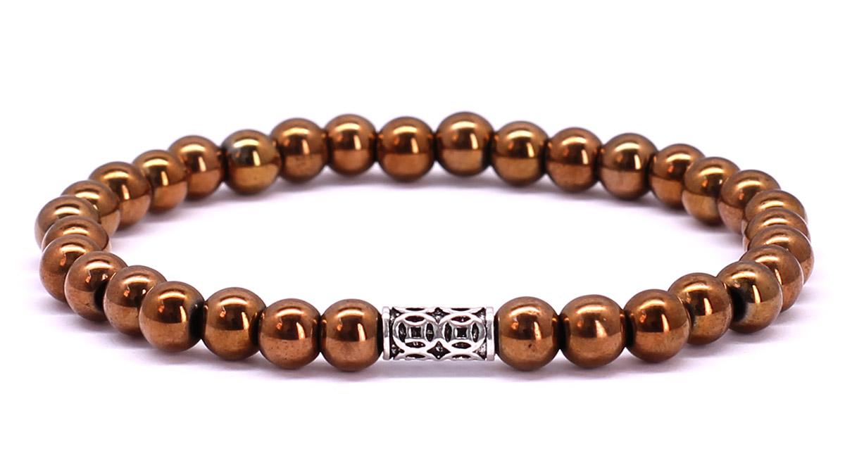 Premium for her bracelet Bronze Hematite Front