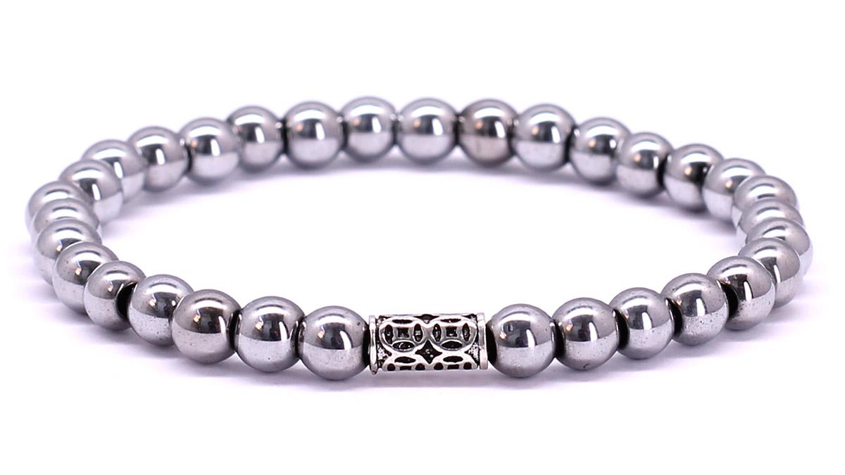 Premium for her bracelet Silver Hematite Front