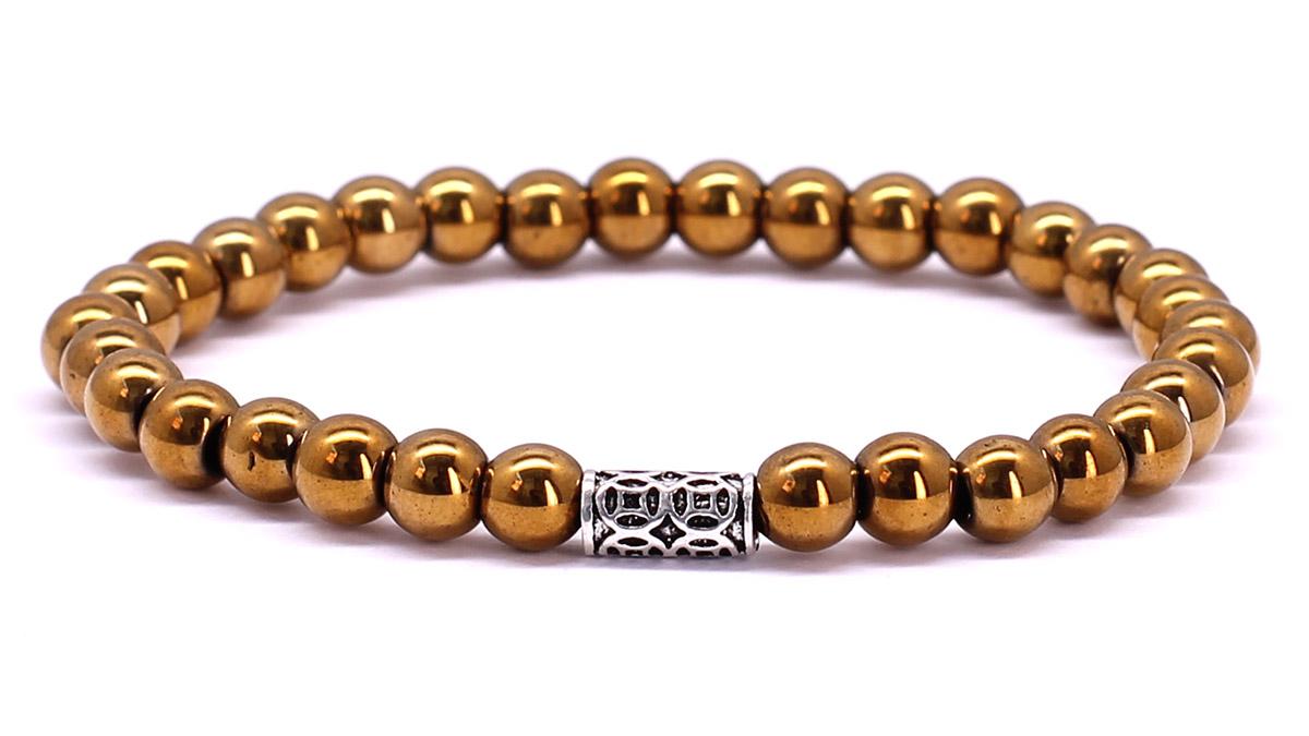 Premium for her bracelet Gold Hematite Front