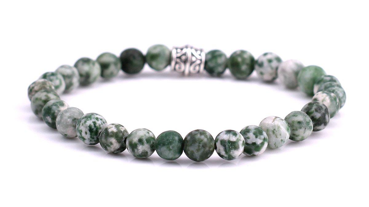 Green Spot Stone Mat bracelet Product image back