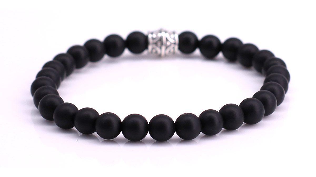 Black Onyx Mat bracelet Product image Back