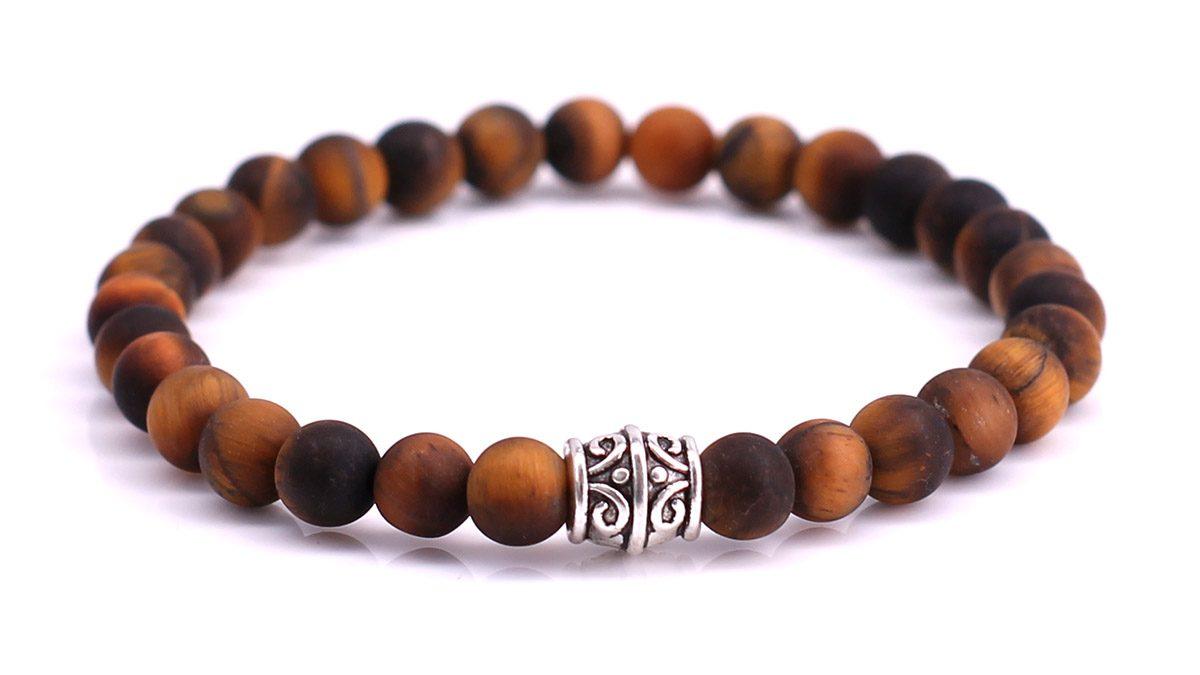 Brown Tiger Eye Mat bracelet Product image front