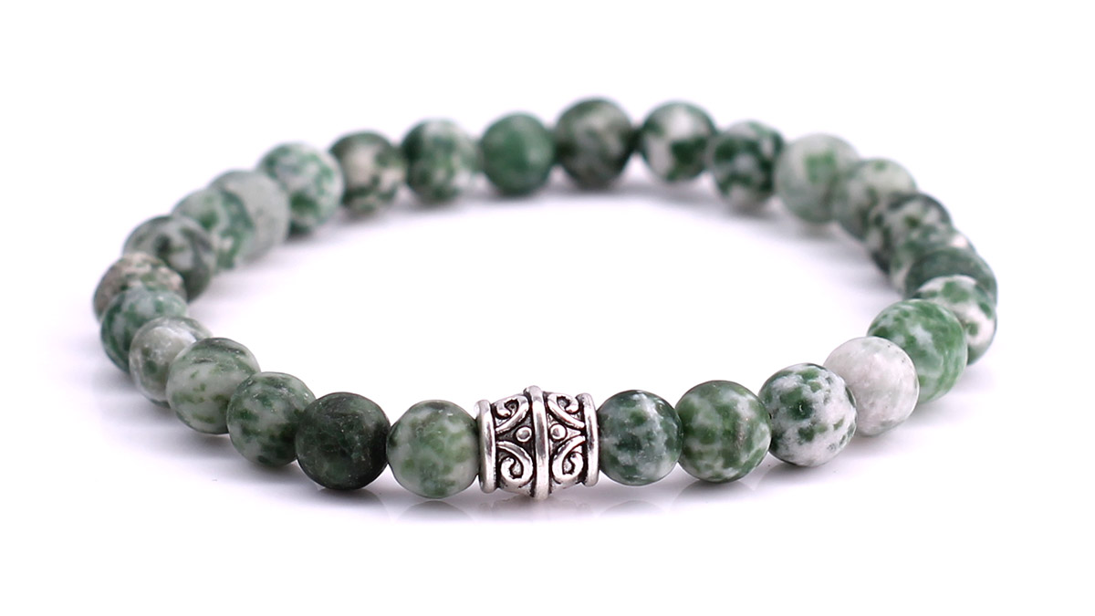 Green Spot Stone Mat bracelet Product image front