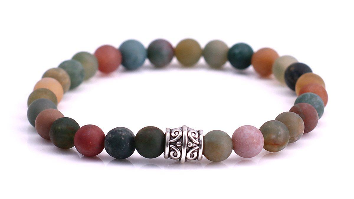Indian Agate Mat bracelet Product image front