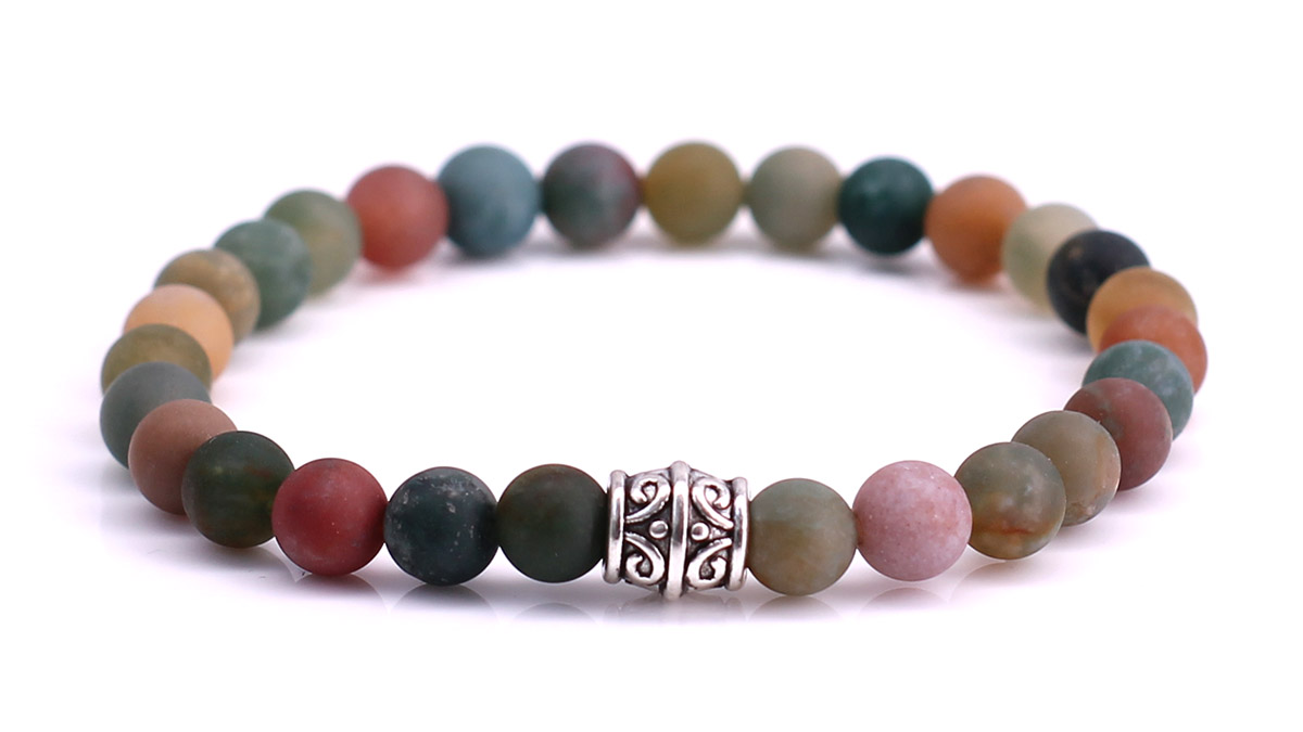 Indian Agate Mat bracelet Product image front