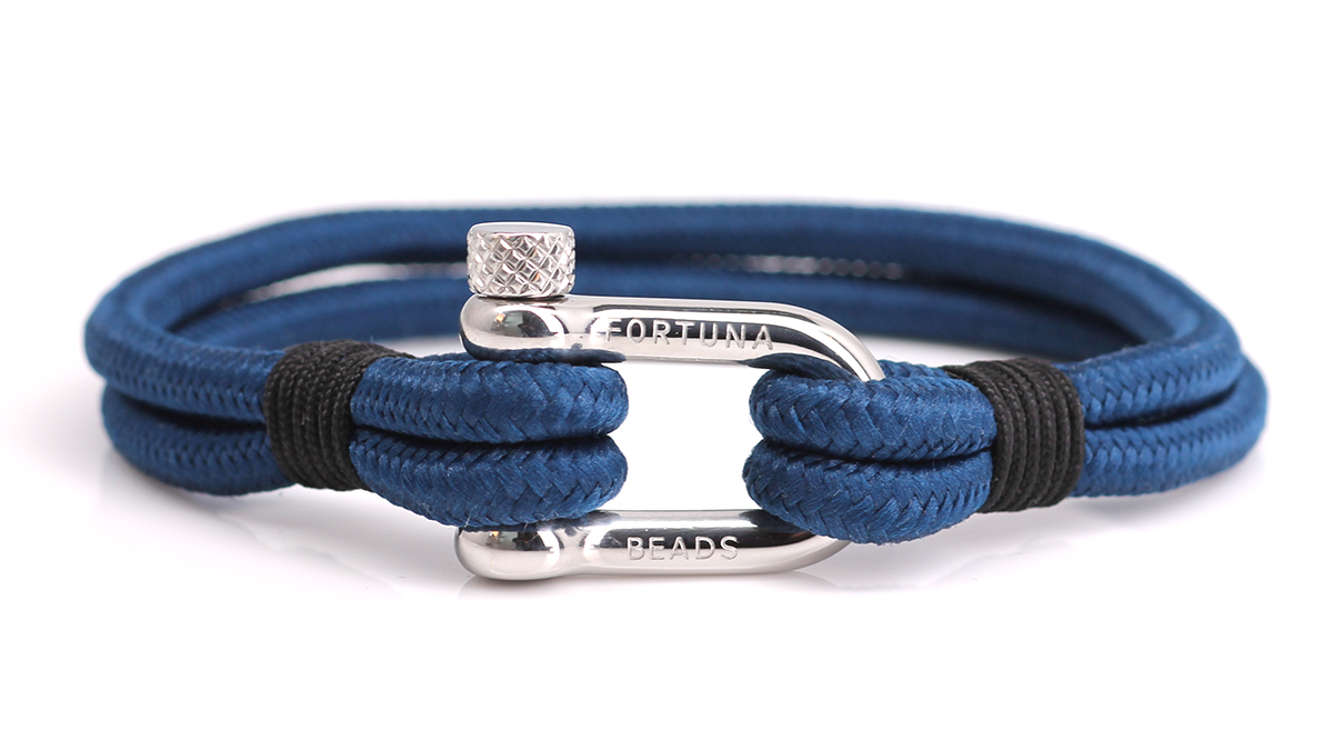 Nautical N2 blue bracelet Product image front