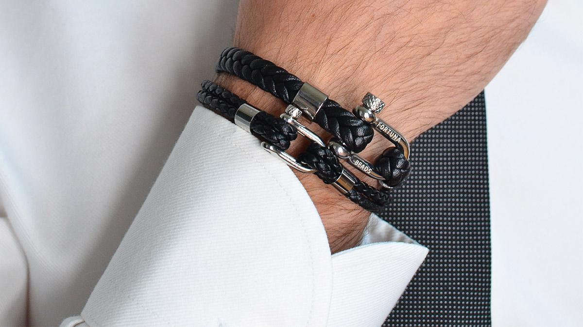 L5 Black nautical bracelets Setting 1