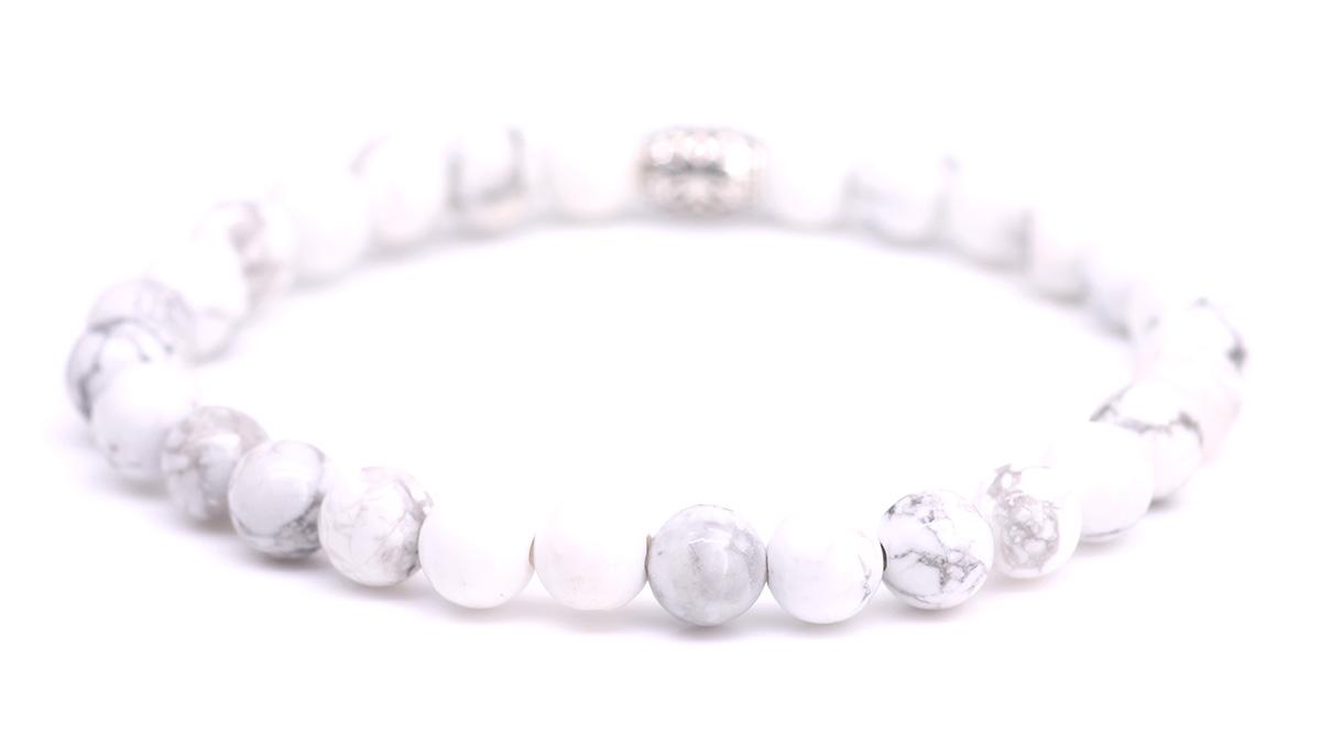 Lily White Howlite bracelet Product image back