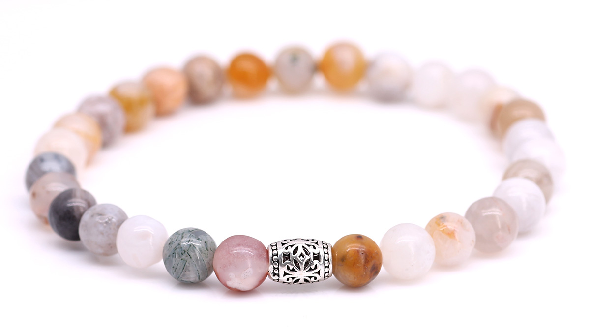 Lily Bamboo Leaf Agate bracelet Product image front