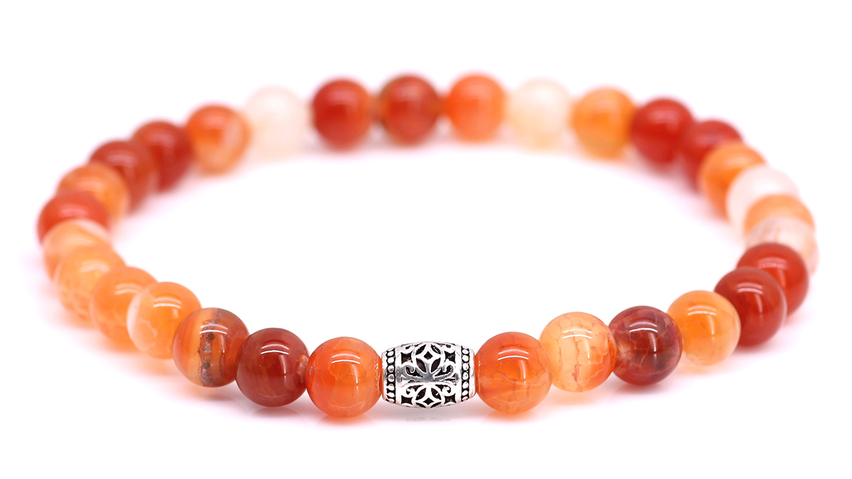 Lily Red Ice Agate bracelet Product image front