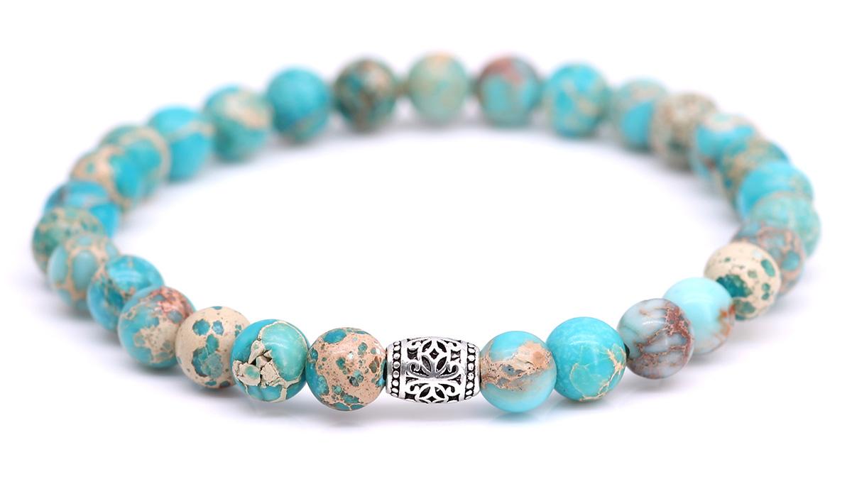 Lily Regalite Sky Blue bracelet Product image front