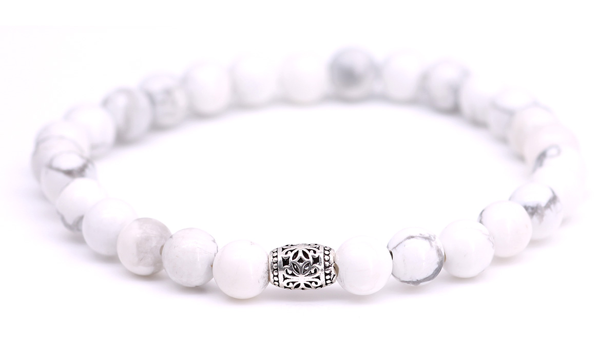 Lily White Howlite bracelet Product image front