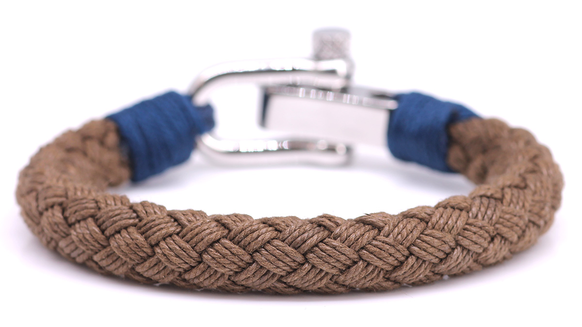 Nautical S5 Brown Rope bracelet Product image back