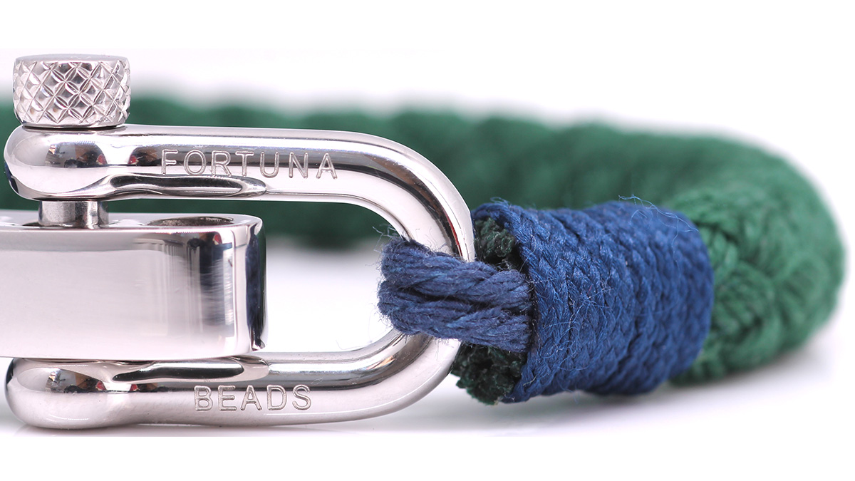 Nautical S4 Green Rope bracelet Product image clasp