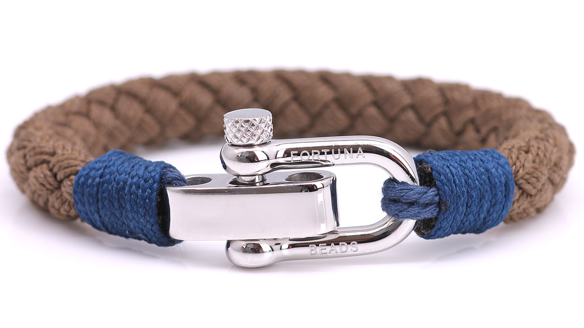 Nautical S5 Brown Rope bracelet Product image front