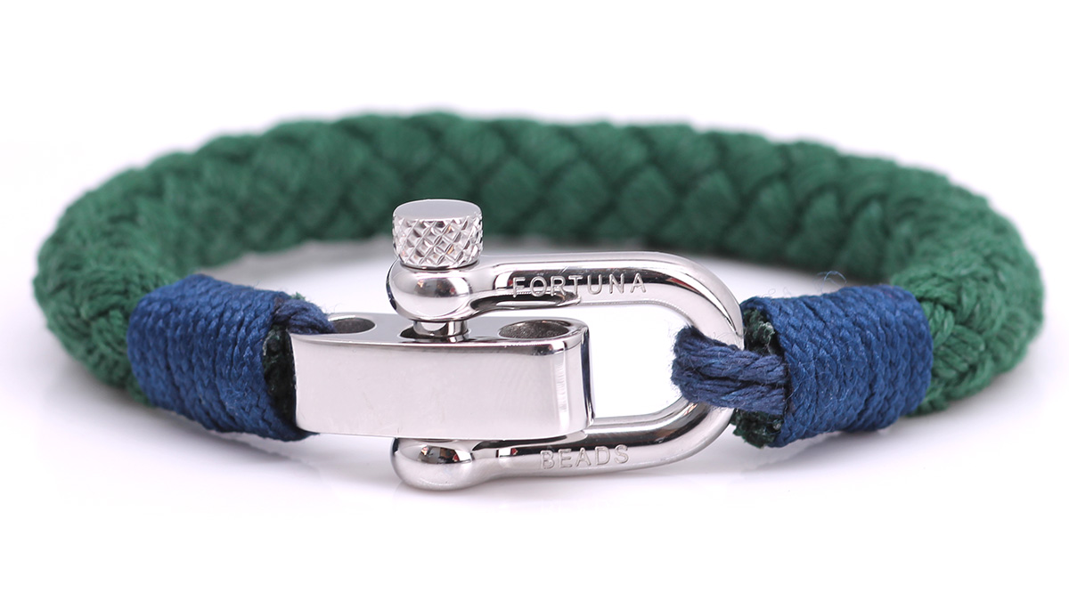 Nautical S4 Green Rope bracelet Product image front