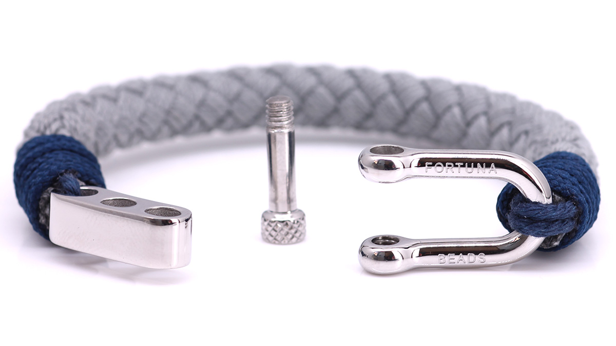 Nautical S6 Grey Rope bracelet Product image open