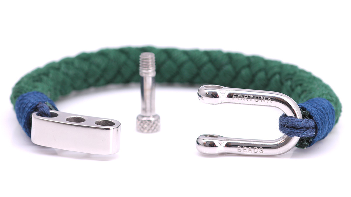 Nautical S4 Green Rope bracelet Product image open