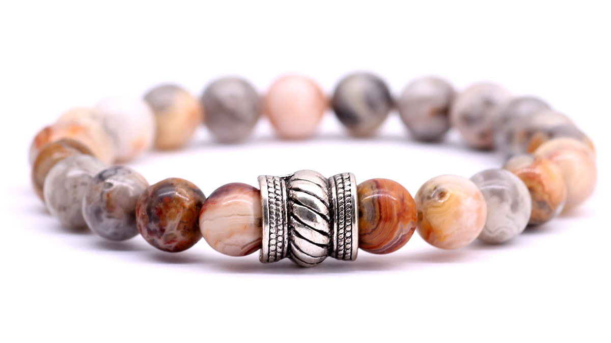 FortunaBeads bali crazy agate bracelet front