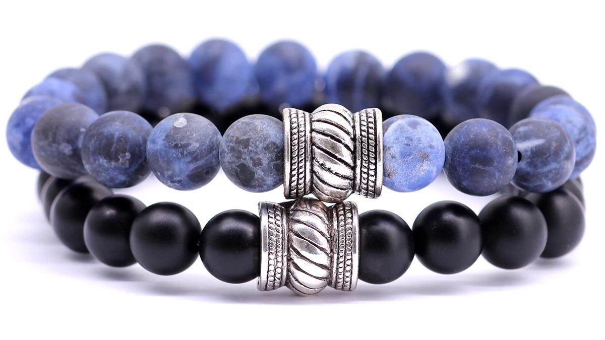 Mat sodalite x black onyx set bracelets bali collection